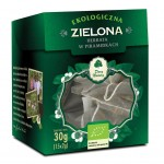 HERBATA ZIELONA PIRAMIDKI BIO (15 x 2 g) - DARY NATURY