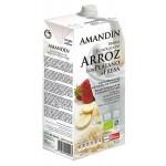 Napój ryżowy z bananem i truskawką BIO 1L Amandin