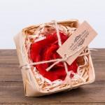 Świeca woskowa pakiet czerwona róża w łubiance Łysoń