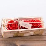 Świeca woskowa pakiet czerwona róża 3szt. w łubiance Łysoń