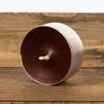 Świeca podgrzewacz mały (tealight) brązowy Łysoń