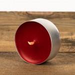 Świeca podgrzewacz mały (tealight) czerwony Łysoń