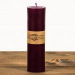 Świeca woskowa walec cienki fioletowy Łysoń