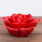 Świeca woskowa kwiat czerwony Łysoń