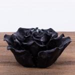 Świeca woskowa kwiat czarny Łysoń