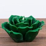 Świeca woskowa kwiat zielony Łysoń
