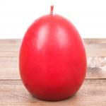 Świeca wielkanocna jajko gładkie czerwone Łysoń