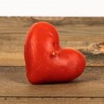 Świeca woskowa serce pływające czerwone Łysoń