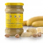 Miód kremowany z bananem i pistacją 400g Pasieka Dębowa