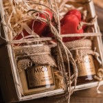 Zestaw prezentów w drewnianym pudełku Łysoń