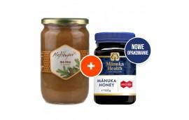 Zestaw: Miód Manuka MGO™ 400+ 500g Manuka Health + Miód Grecki Pomarańczowy 950g Melidoron