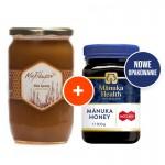 Zestaw: Miód Manuka MGO™ 400+ 500g Manuka Health + Miód Grecki Wrzosowy 950g Melidoron