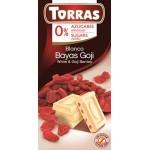 Czekolada biała z jagodami goji 75 g Torras