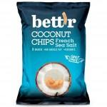 Chipsy z kokosa z solą morską BEZGL. BIO 40 g