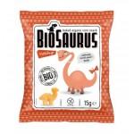 Chrupki kukurydziane Dinozaury o smaku ketchupowym BEZGL. BIO 15 g BioSaurus