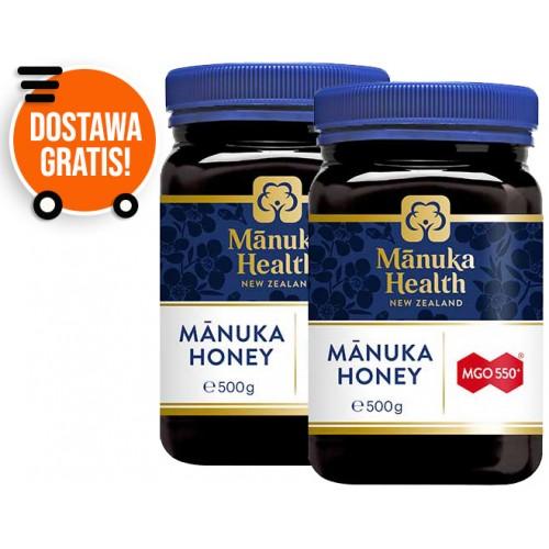 Zestaw 2 x Miód Manuka MGO 550 500g Manuka Health