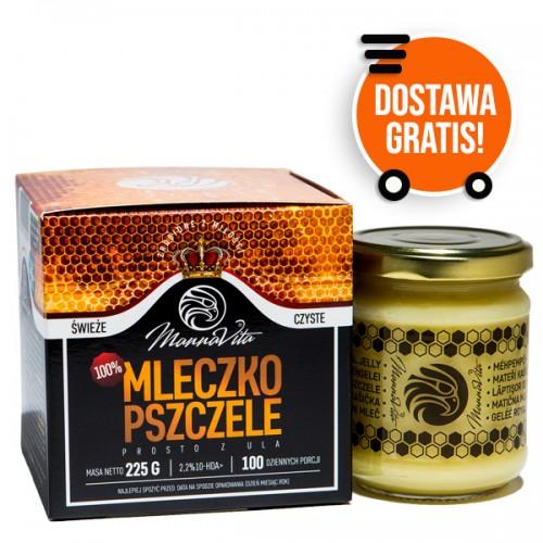 100% Mleczko Pszczele 2,2% 10-HDA 225g MannaVita