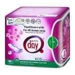 Wkładki higieniczne z paskiem anionowym i warstwą wchłaniającą wilgoć 20 szt. Gentle Day
