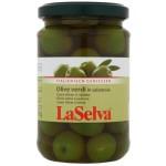 Zielone oliwki z pestką w zalewie BIO 310g LaSelva