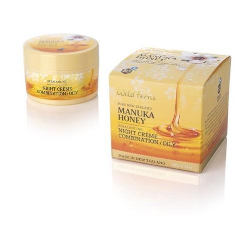 Krem nawilżająco – równoważący na noc do cery tłustej i mieszanej 100ml Wild Ferns Manuka Honey