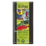 Czekolada vegan na napoju ryżowym 40 kakao BIO 100 g Vivani