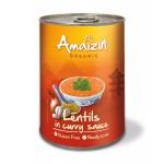 Soczewica w sosie curry (puszka) BIO 420g Amaizin
