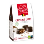 Belgijskie czekoladki serca z karmelem i solą morską bezglutenowe fair trade BIO 100g Belvas