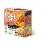 Poki przecier jabłkowo-brzoskwiniowo-morelowy 100% owoców bez dodatku cukrów BIO 4x90g Danival