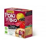 Poki przecier jabłkowy z dodatkiem czerwonych owoców i czarnej porzeczki 100% owoców bez dodatku cukrów BIO 4x90g Danival