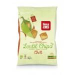 Chipsy z soczewicy z chili BIO 90g Lima