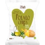 Chipsy ziemniaczane pieczone na oliwie z oliwek BIO 100g Trafo