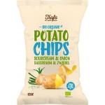 Chipsy ziemniaczane o smaku śmietankowo - cebulowym BIO 125g Trafo