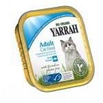 Dla kota dorosłego kurczak z kawałkami ryby i spiruliną BIO 100g Yarrah