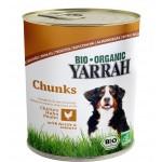 Dla psa kawałki kurczaka z pokrzywą i pomidorem BIO 820g Yarrah