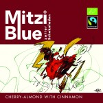 Czekolada Mitzi Blue Cherry - Almond with Cinnamon 65 g Zotter