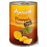 Ananas kawałki w soku własnym BIO 400g Amaizin