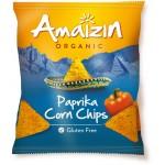 Chipsy kukurydziane o smaku paprykowym bezglutenowe BIO 75g Amaizin