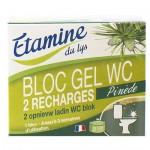 EDL wkłady wymienne do zawieszki do WC z żelem oczyszczającym sosna i eukaliptus 2 x 50 ml