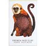 Gąbka Konjac MINI Rainforest Małpka z czerwoną glinką do cery suchej i naczynkowej
