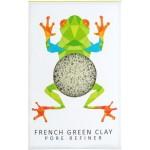 Gąbka Konjac MINI Rainforest Żabka z zieloną glinką do cery normalnej, mieszanej i tłustej