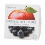 Deser owocowy jabłko - jagoda BIO 200g Clearspring