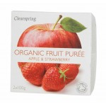 Deser owocowy jabłko - truskawka BIO 200g Clearspring