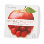Deser owocowy jabłko - żurawina BIO 200g Clearspring