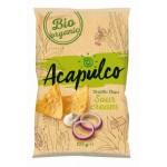 Nachosy o smaku śmietanowo - cebulowym BIO 125g Acapulco