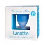 Kubeczek menstruacyjny + woreczek Model 1 Błękitny Lunette