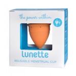 Kubeczek menstruacyjny + woreczek Model 1 Pomarańczowy Lunette
