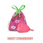 Kubeczek menstruacyjny kolor: Sweet Strawberry rozmiar L Lady Cup