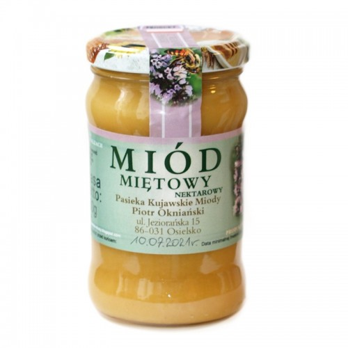 Miód miętowy (z kwiatów mięty pieprzowej) 400g Kujawskie Miody